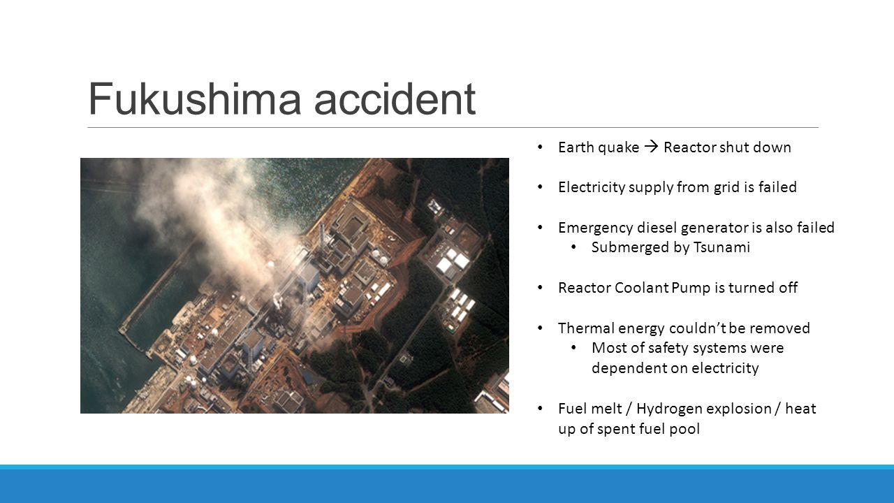 Fukushima accident Earth quake  Reactor shut down