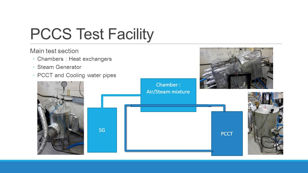 PCCS Test Facility Main test section Chambers : Heat exchangers