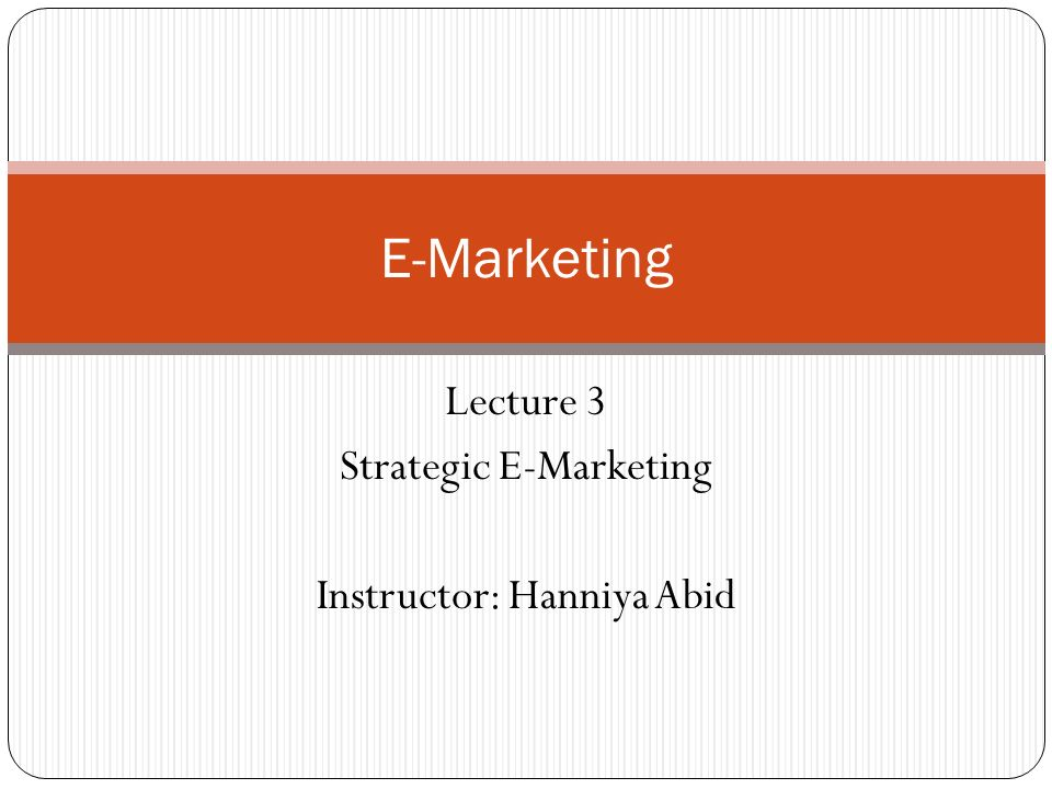 e marketing ppt Importance of e-marketing in terms of 1 raising awareness 2 influence desire 3 facilitate purchase 4 encourage trial 5 create loyalty creator: abu jubaer.