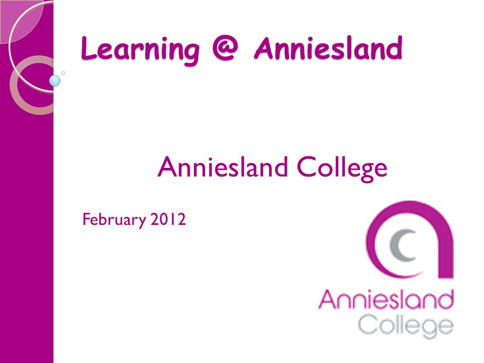 Anniesland College February 2012