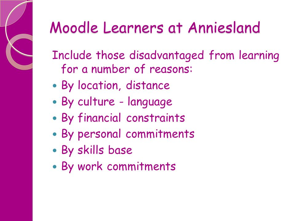 Moodle Learners at Anniesland