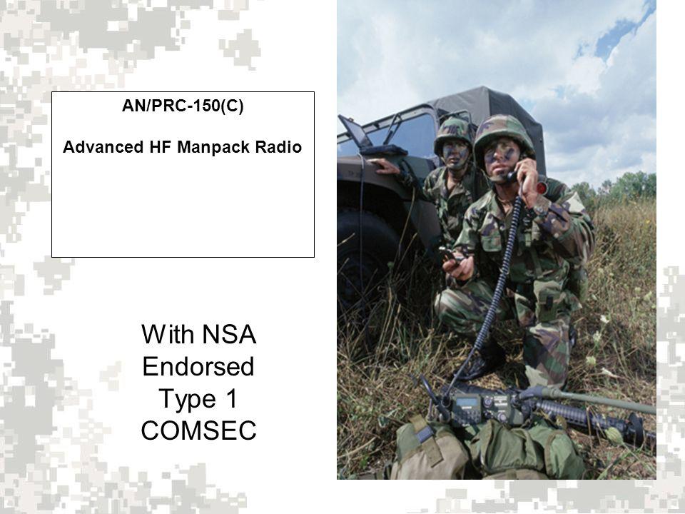 AN/PRC-150(C) Advanced HF Manpack Radio