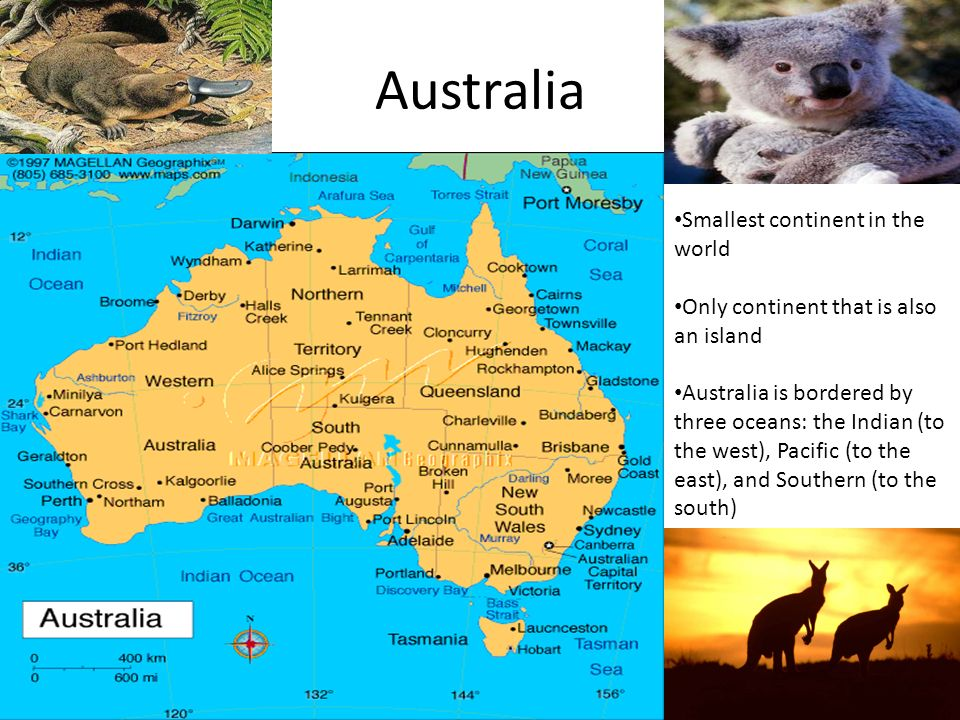 Continents and oceans ppt video online download australia smallest continent in the world gumiabroncs Image collections