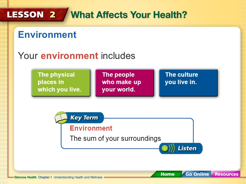 how environment affect health The environmental protection agency has developed informational summaries on selected chemicals to describe how people might be exposed to these chemicals and how exposure to them might affect their health the summaries also explain what happens to the chemicals in the environment, who regulates them, and whom to contact for additional.