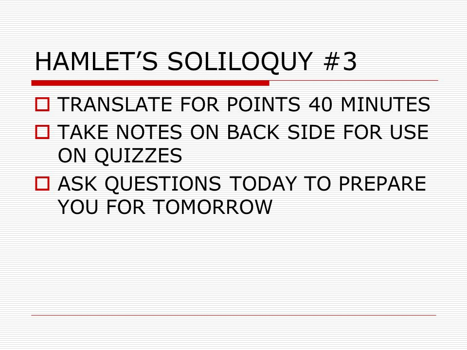 translation of hamlet s soliloquies act 1 Learn hamlet act 1 questions with free interactive flashcards choose from 500 different sets of hamlet act 1 questions flashcards on quizlet.