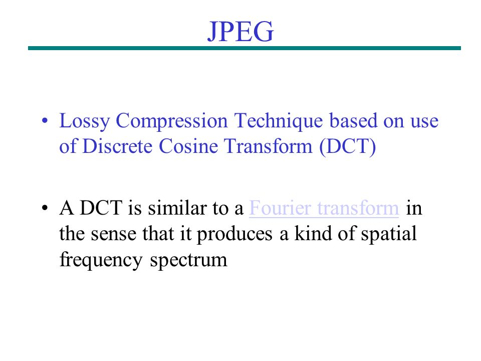 lossy compression Description lossy compression service the lossy compression service  supports delayed, jpeg lossy compression of received images.