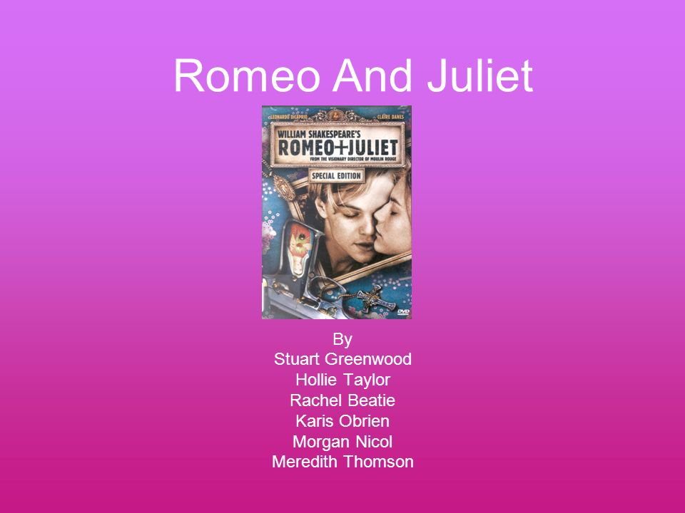 an antithesis in romeo and juliet The story in the film is the alleged history behind shakespeare's writing of romeo and juliet it combines historical fact with fiction, excerpts from romeo and juliet and other works by.