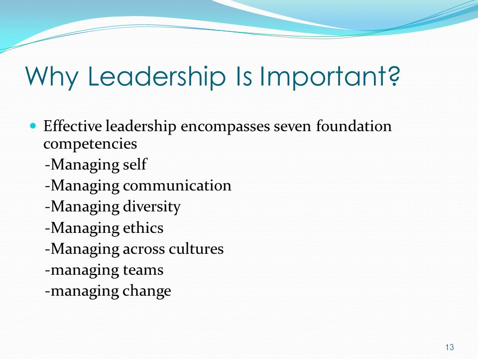 Why Leadership Is Important