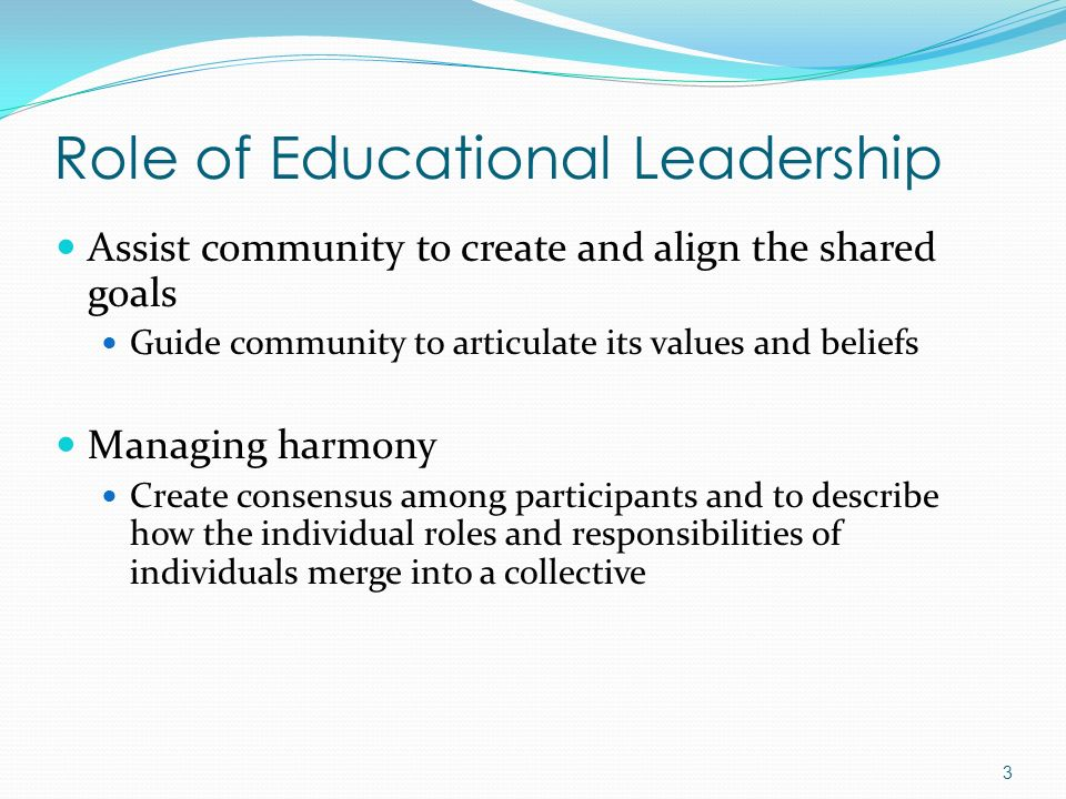 Role of Educational Leadership