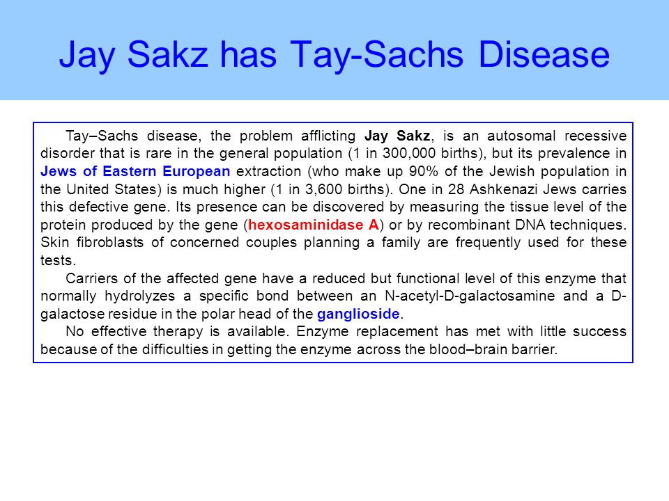 Tay sachs disease in adult valuable
