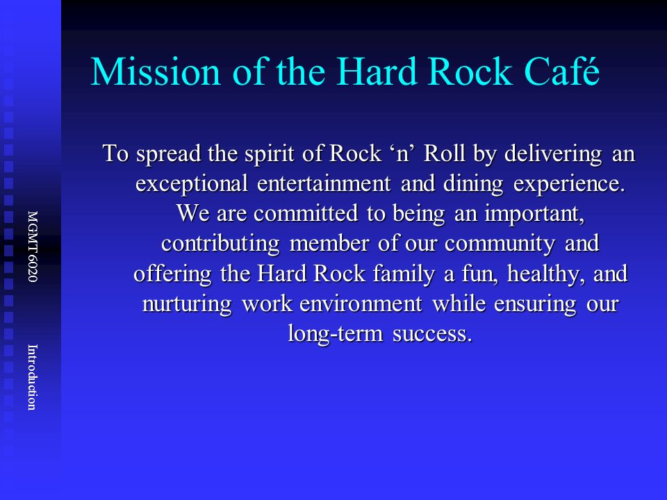 10 critical decisions of operations management hard rock cafe Hard rock cafe: operations management in services there is a   the students engaged in the 10 om decisions around which the text is structured   this om decision is a critical ingredient for success of a hard rock cafe and.