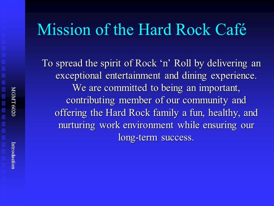 hard rock cafe operations management Hard rock cafe $ mo money mo problems $ origin the hard rock  operations and productivity - operations management chapter 1 operations and productivity outline.