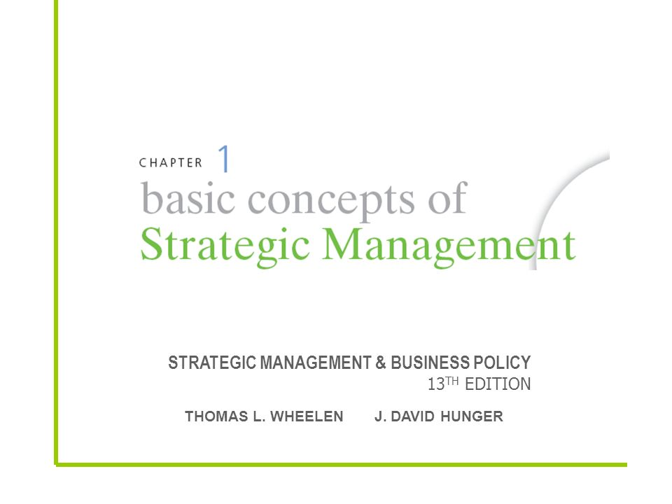 Strategic Management Business Policy 13th Edition Ppt Video