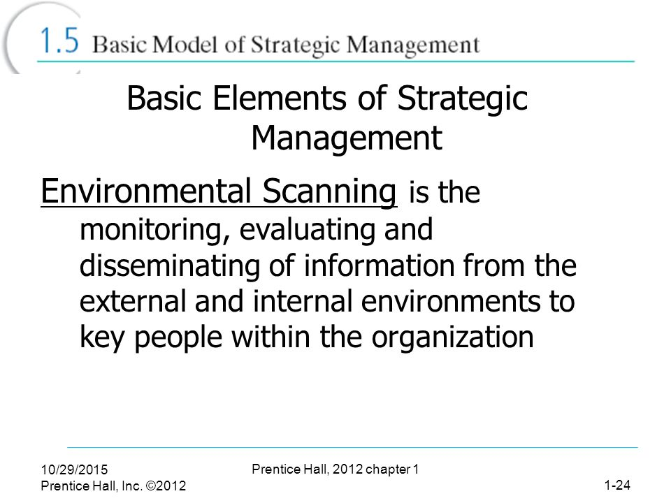 elements of strategic management pdf