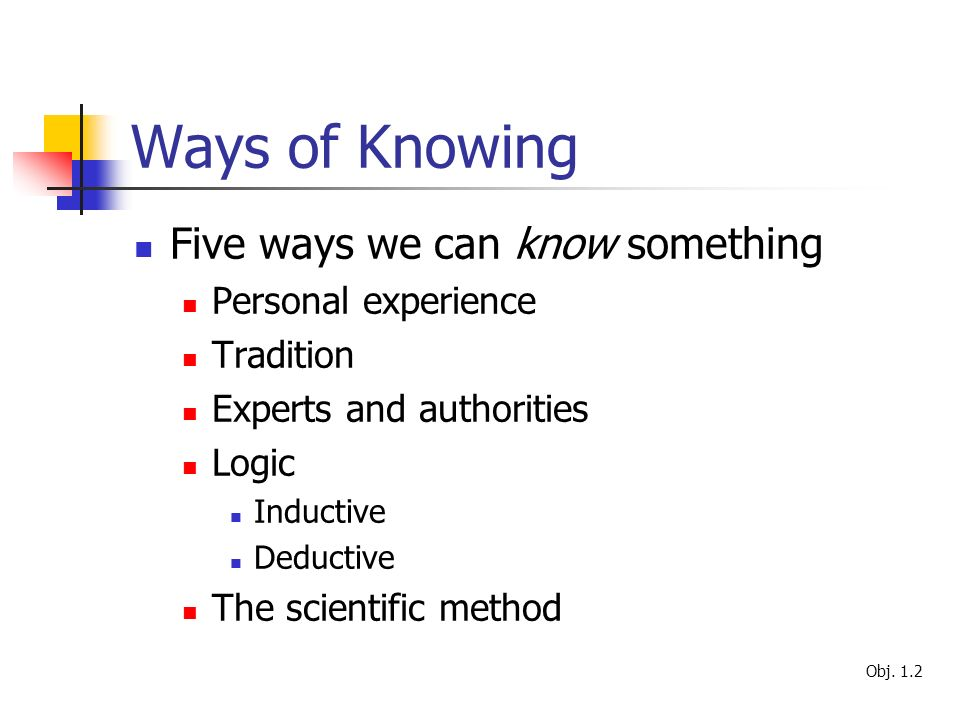 the five ways of knowing This article reconsiders the fundamental patterns of knowing in nursing in light of the challenge of.