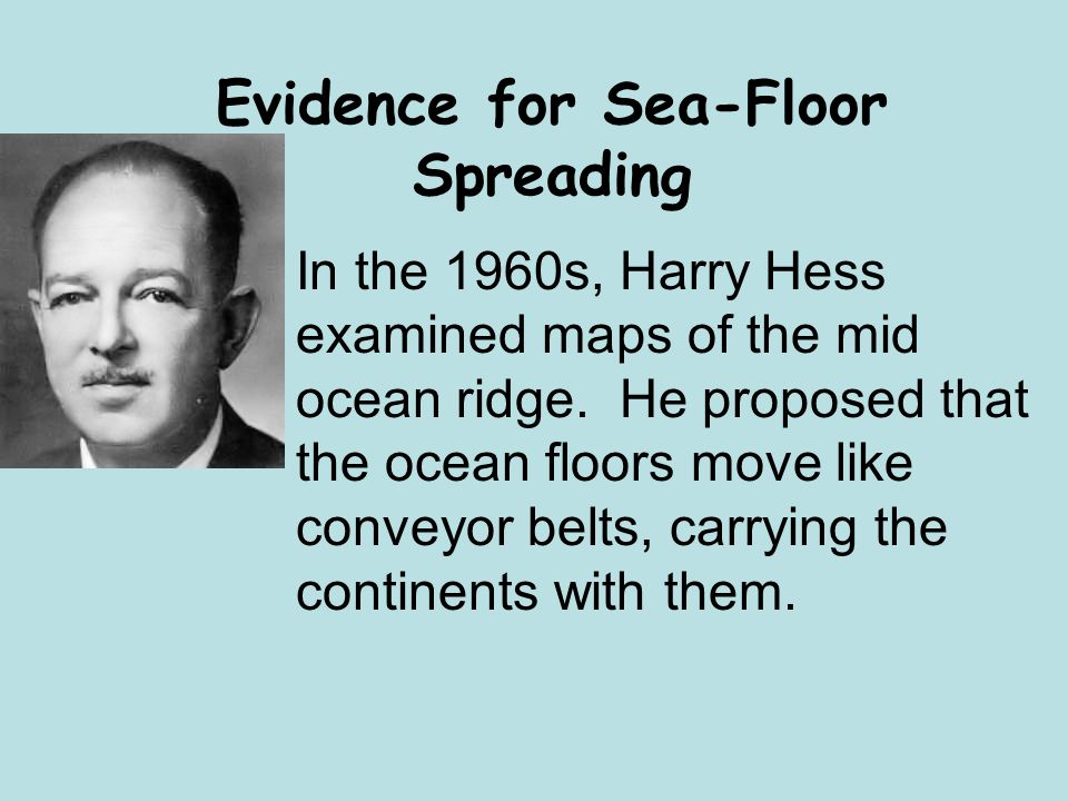 Eq what is the process of sea floor spreading ppt for Evidence for sea floor spreading has come from