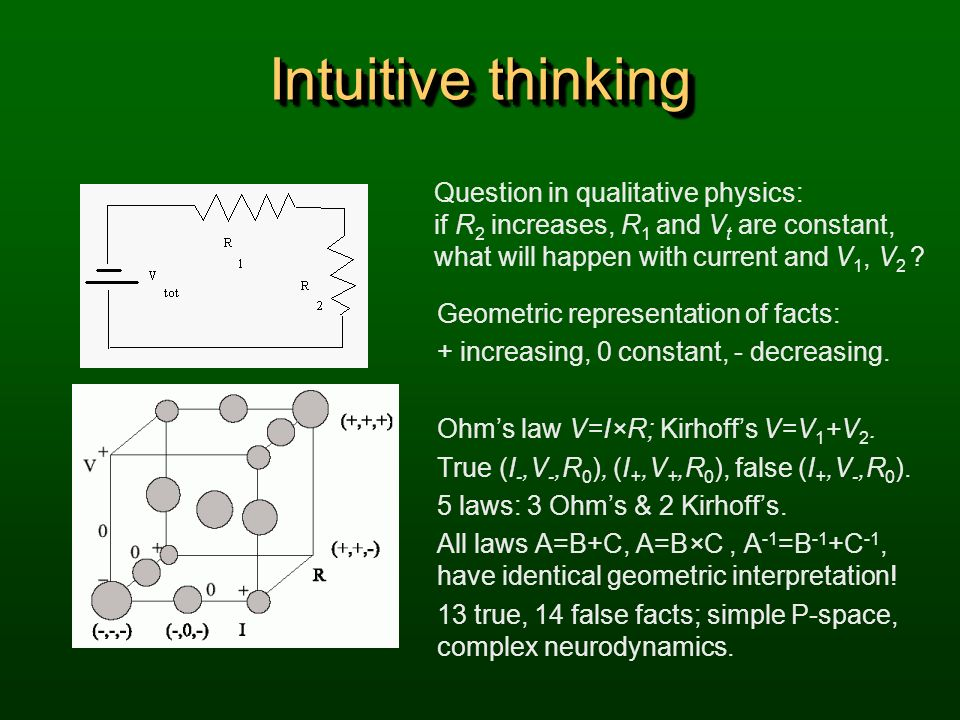 Intuitive thinking Question in qualitative physics: