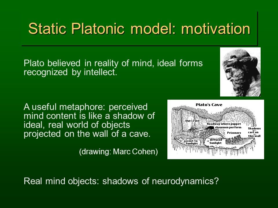 Static Platonic model: motivation
