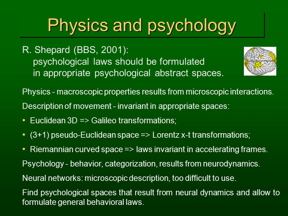 Physics and psychology