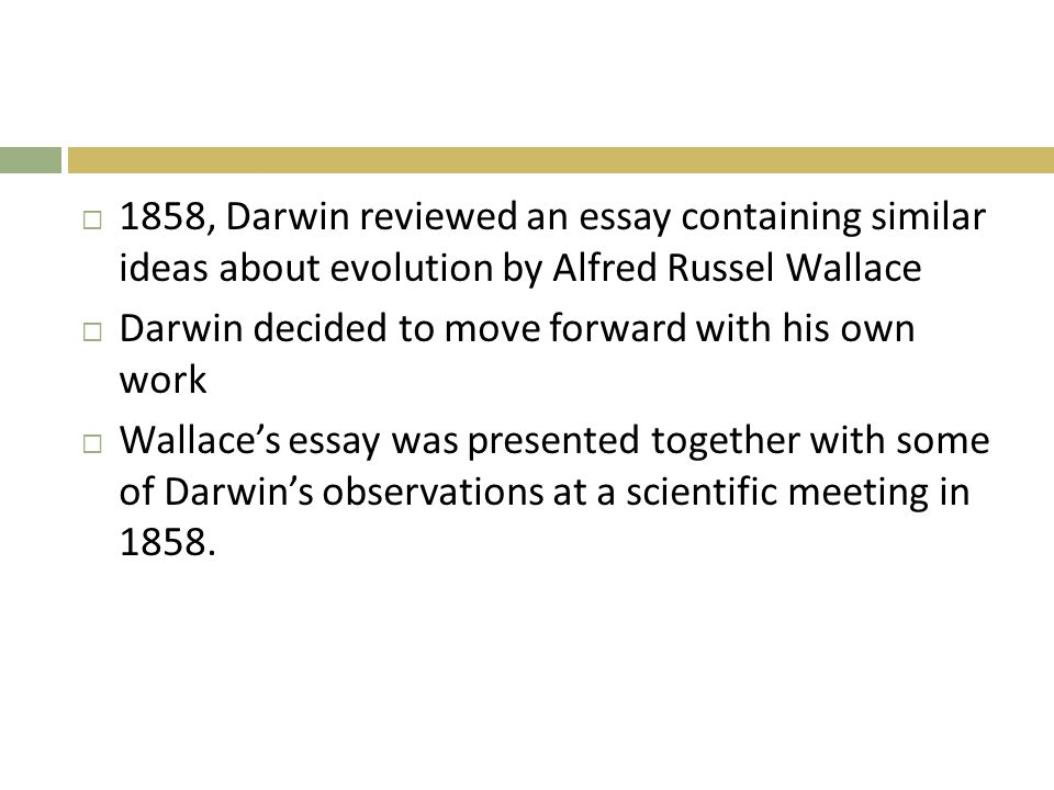 review what happens in the process of natural selection explain  1858 darwin reviewed an essay containing similar ideas about evolution by alfred russel wallace