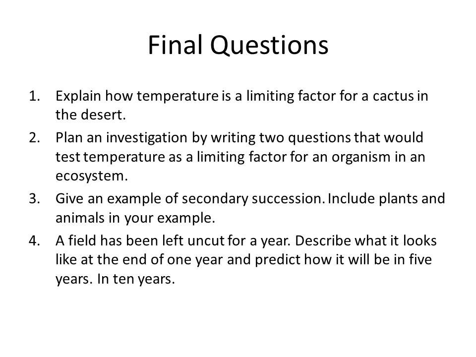 Limiting Factors Examples Ecosystems 35395 Movieweb
