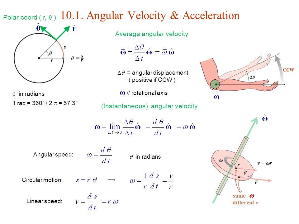10. Rotational Motion Angular Velocity & Acceleration ...