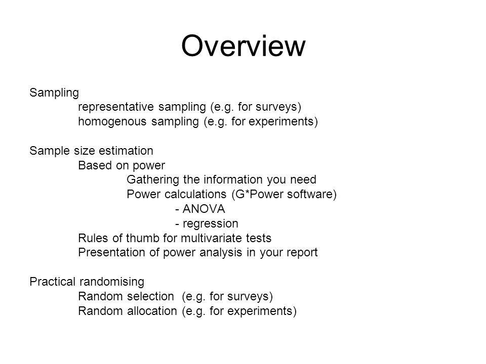 Sampling, sample size estimation, and randomisation - ppt download