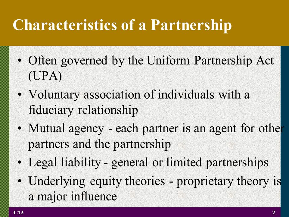 principle of mutual agency in partnership Answer to mutual agency implies that each partner in a partnership is a fully authorized agent of the partnership when of the fol.