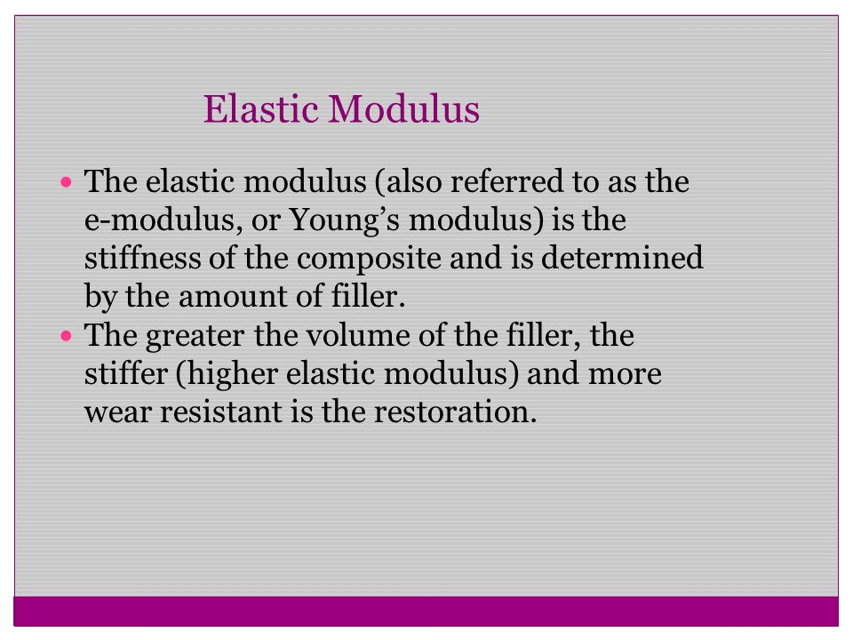 how to find elastic modulus