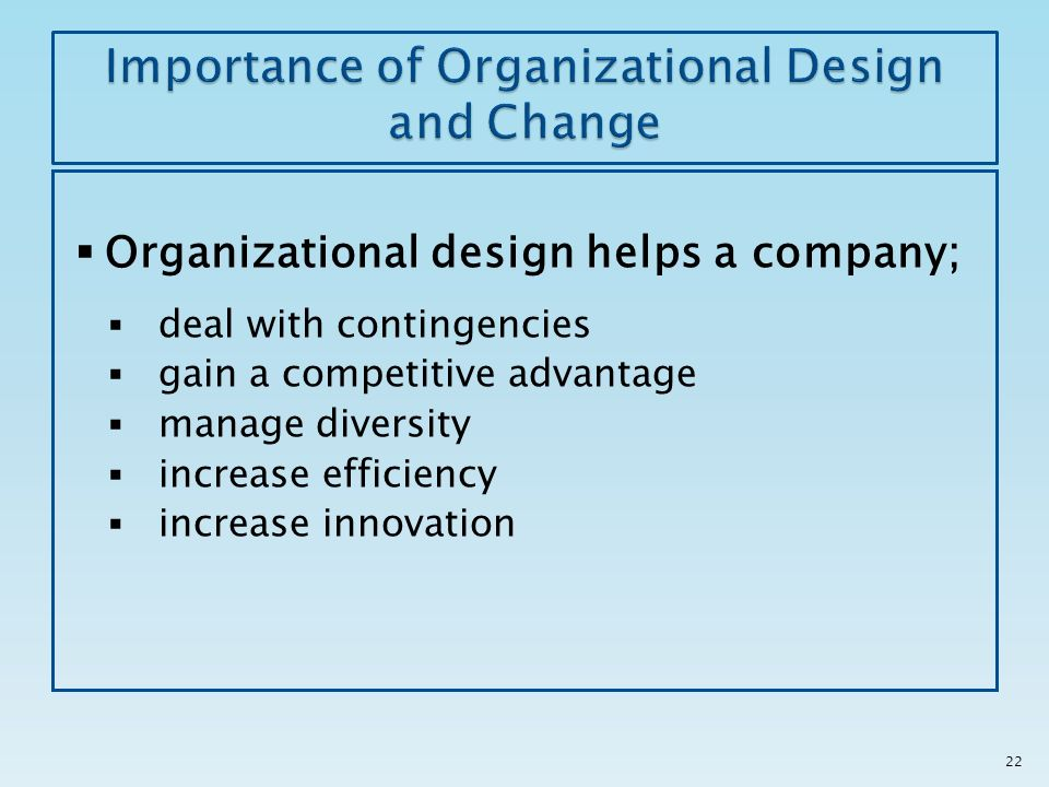importance of innovation and change within an organization Organizations that prioritize innovation tend to embrace leaders that share the above characteristics and behaviors at the same time, many report a significant gap between a stated desire for innovation, and the unfortunate reality of resistance to change.
