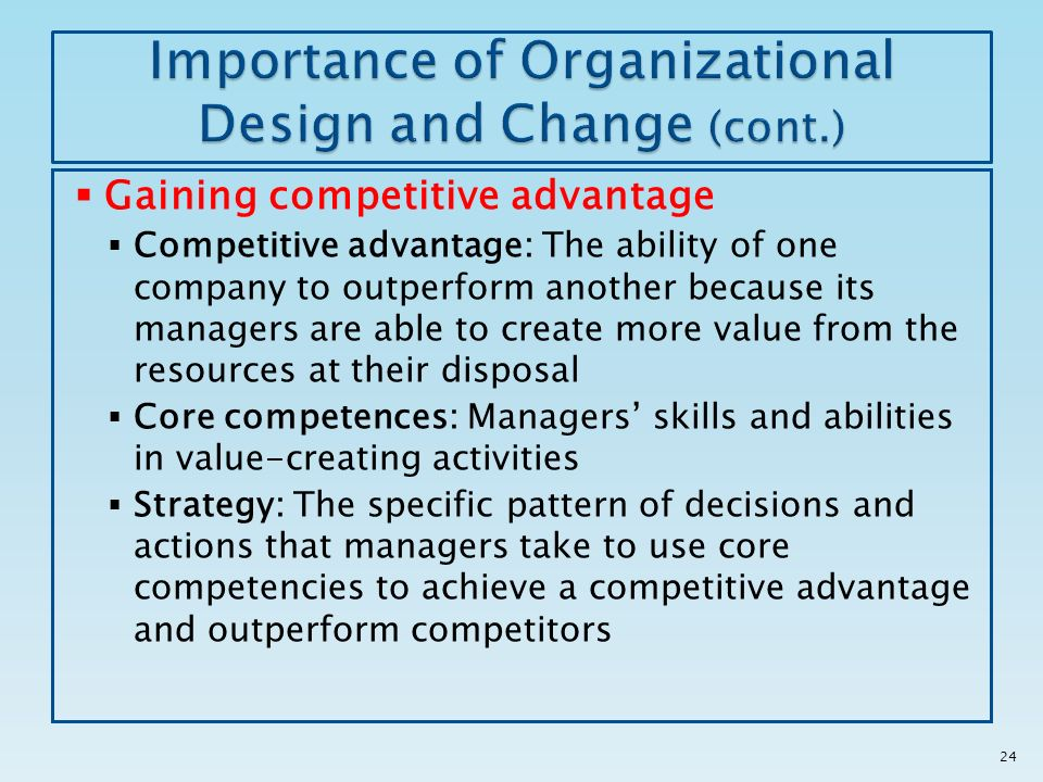 importance and effectiveness of school organizations Chapter 11: organizational structures: efficient and effective manner is an important consideration for the manager who tries to do everybody's job is.