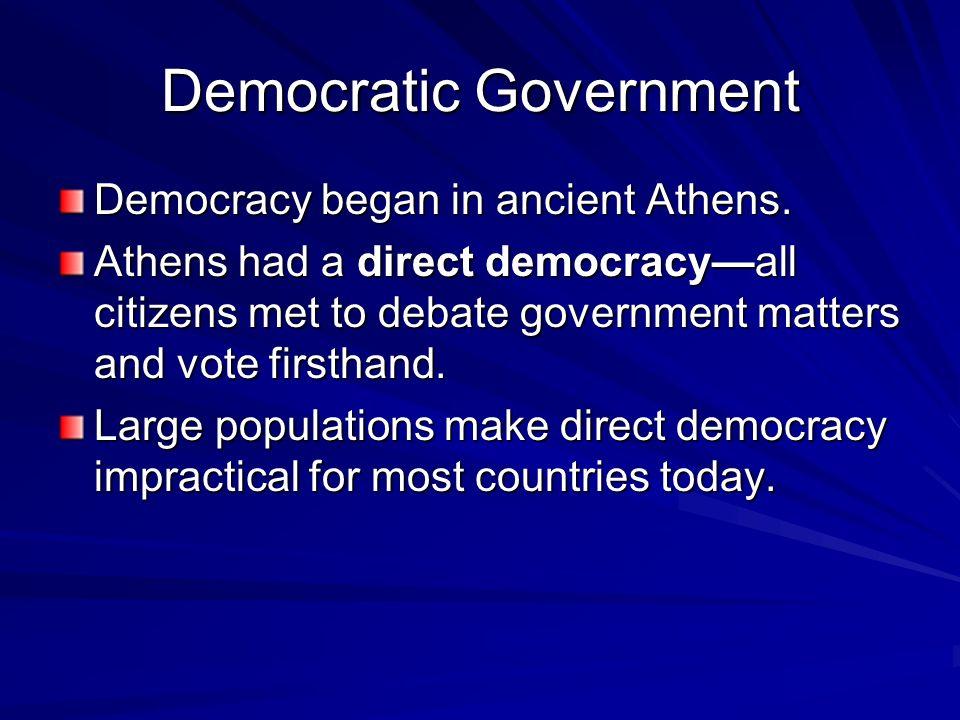 Democratic Government