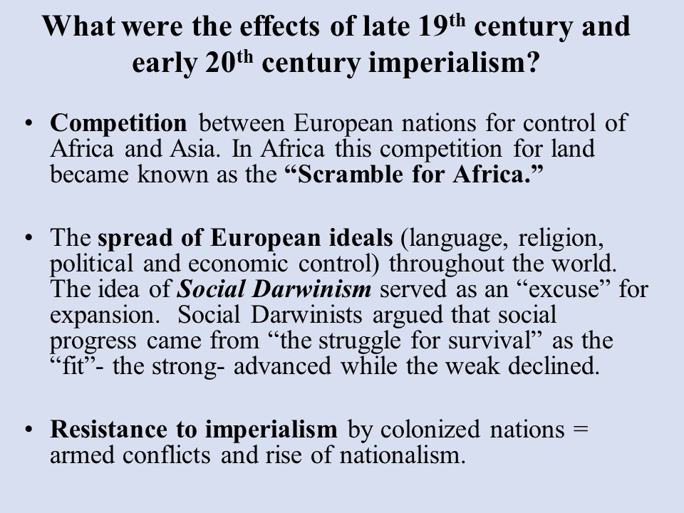 an an analysis of the rise of nationalism in the 20th century How has imperialism given rise to nationalism in the 20th century please discuss the experiences of at least three different countries in your answer.