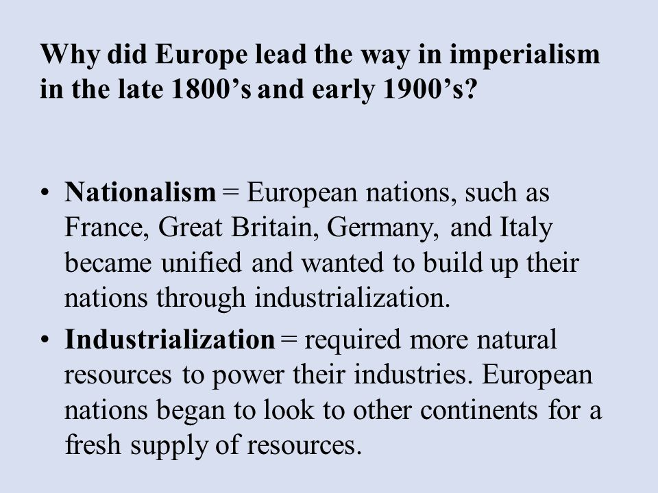 how did industrialization lead to imperialism Industrial revolution & imperialism review guide industrial 22 how did industrialization lead to a growth in industrial revolution & imperialism review guide.