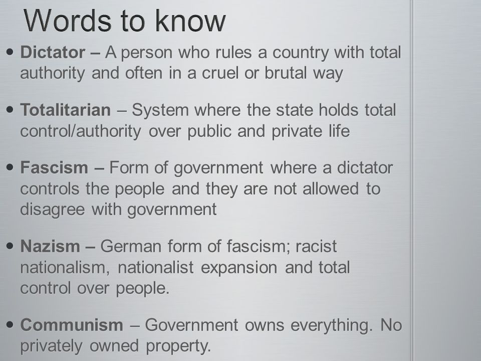 World War II Rise of dictators & Causes of War - ppt download