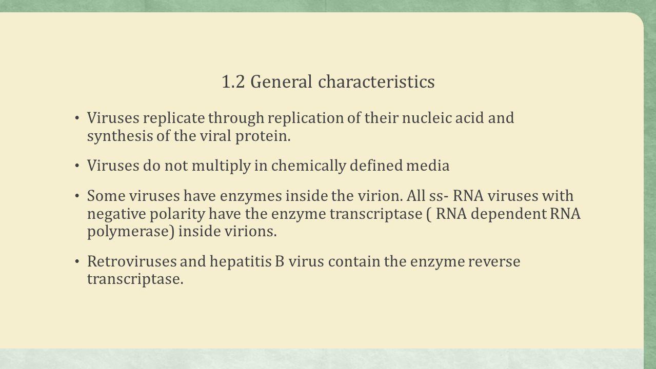 general characteristics of viruses pdf