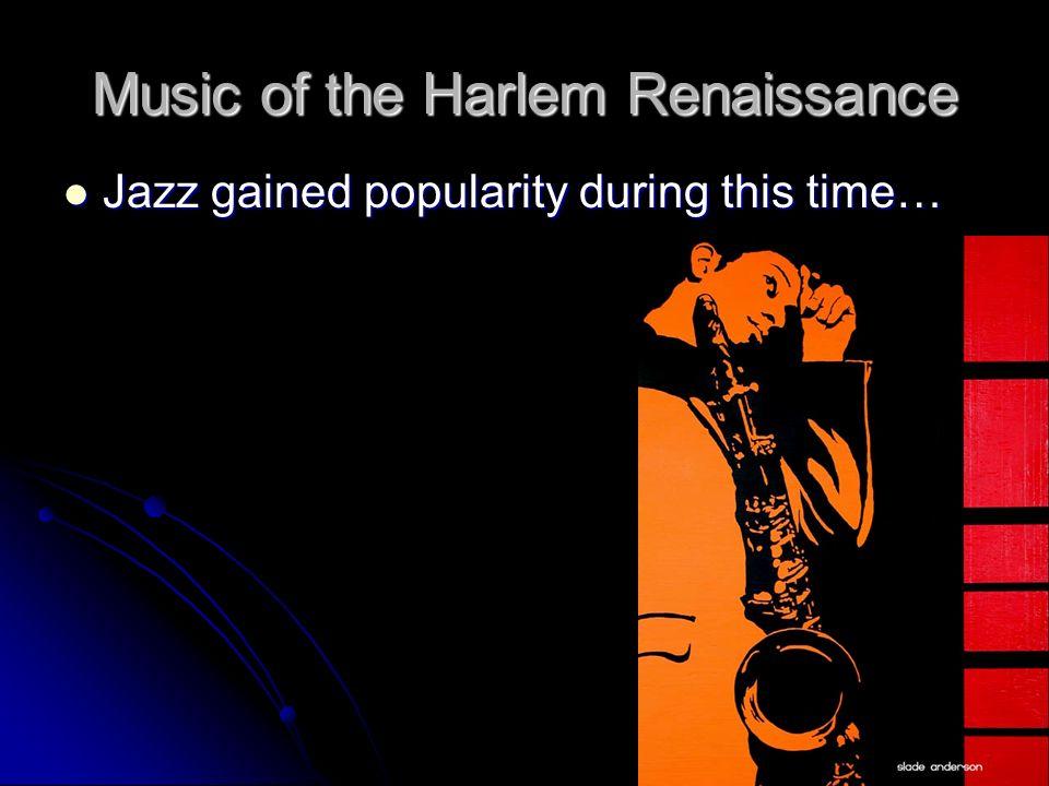 harlem renaissance music essay