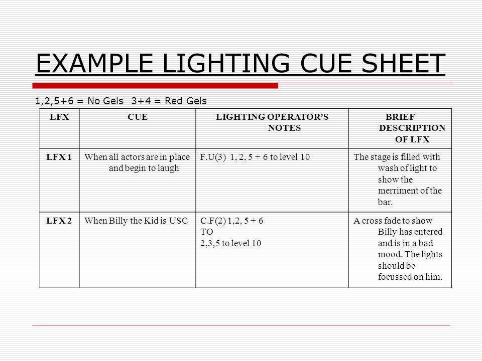 Lighting cue sheet heartpulsar lighting cue sheet maxwellsz