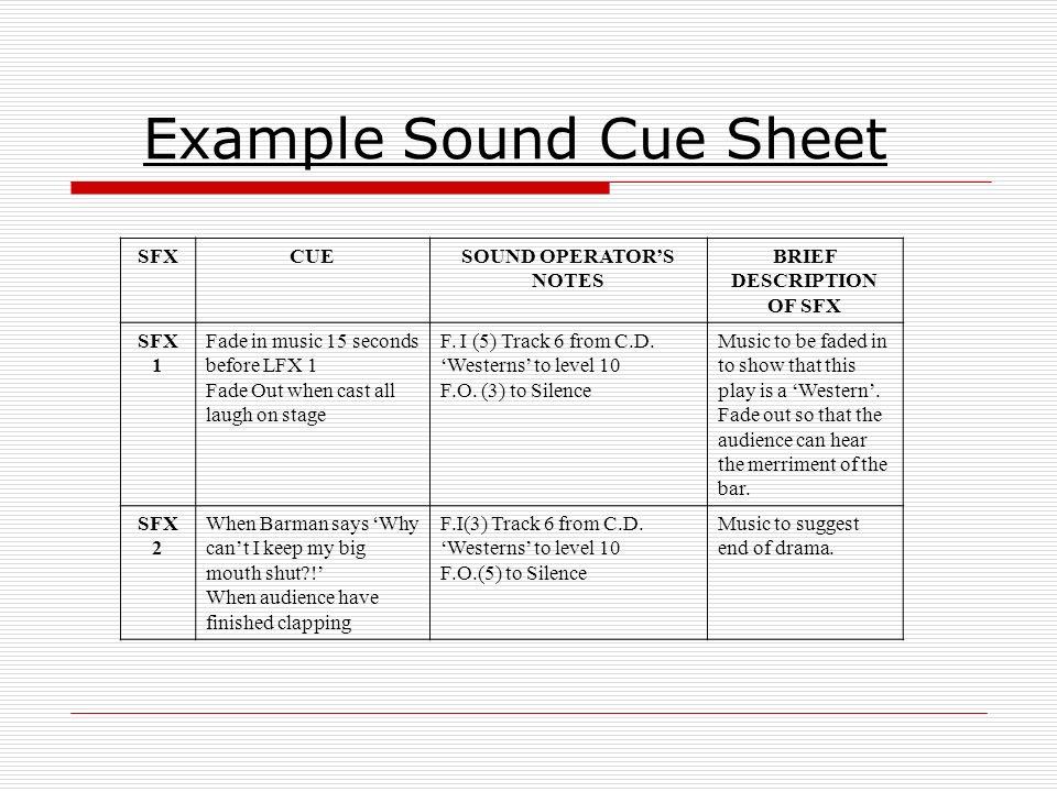 Lighting Cue List - Democraciaejustica  sc 1 st  Qhdzhentan.info & Old Fashioned Stage Lighting Cue Sheet Template Photos - Resume ...
