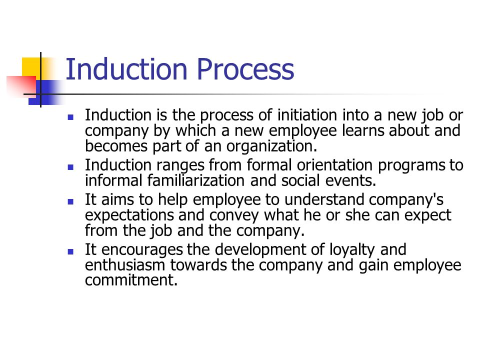 induction and orientation program