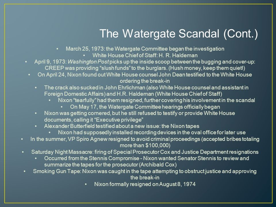 17 The Watergate ...
