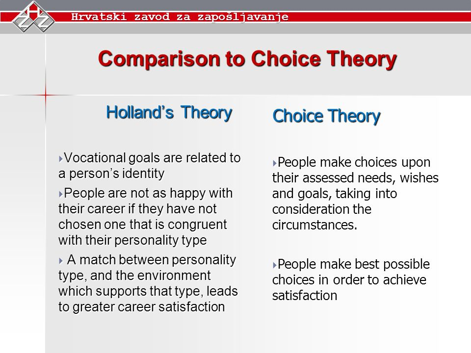 choice theories on how they relate to crime The term choice theories also know and rational choice theories was developed by dr william glasser in 1995 this theory explains human desire to satisfy their.