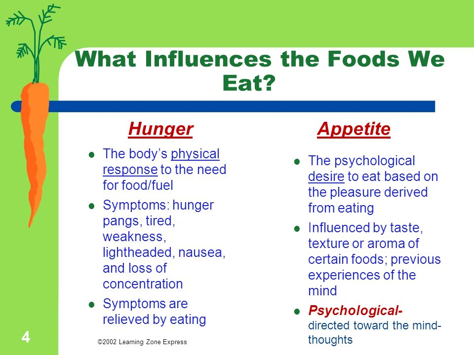 The influence of diet on bodys and minds performance