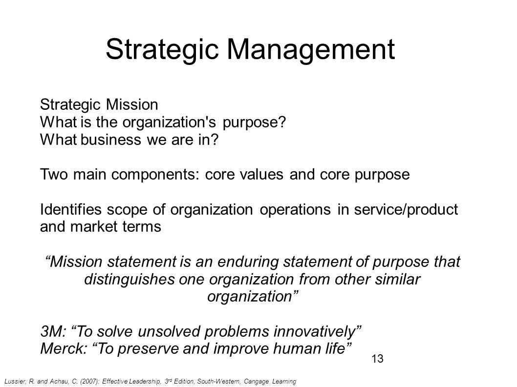 strategic management mission statement essay Free essay: every firm competing in an industry has a competitive strategy   this concept has a strategy hierarchy as follows -goals, policies and  programmes.
