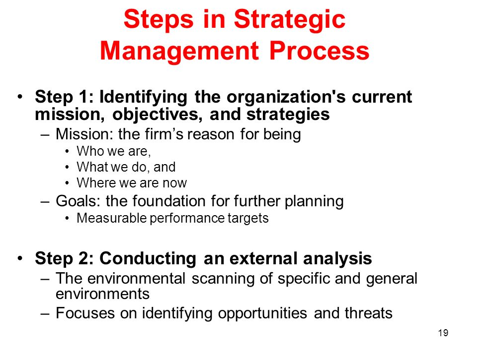 Steps in Strategic Management Process