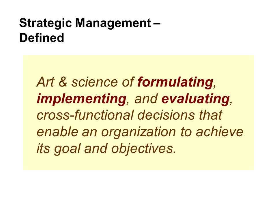 Strategic Management – Defined