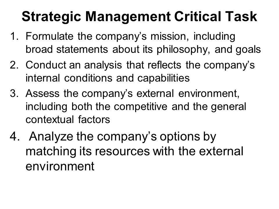 Strategic Management Critical Task