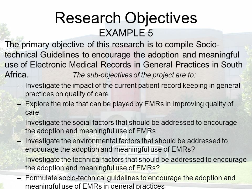 define objectives research paper Aims and objectives provide an excellent framework for the case for support in a research grant application a well-written case for support states an overarching aim based on a big research question.