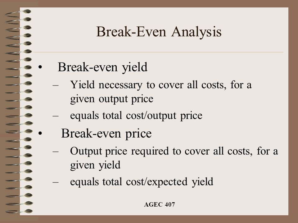 break even output How do you reduce the break-even point ways to reduce a company's break-even point include 1) reducing the amount of fixed costs, 2) reducing the variable costs per unit—thereby increasing the unit's contribution margin, 3) improving the sales mix by selling a greater proportion of the products having larger contribution margins, and 4) increasing selling prices so long as the number of.
