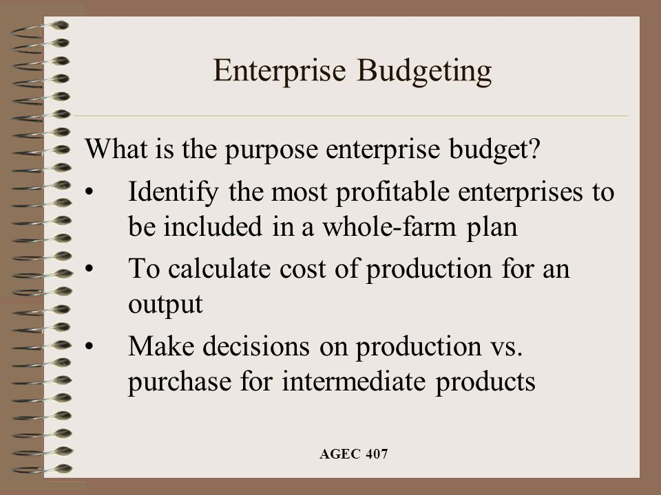 Budgeting tools enterprise budgeting partial budgeting ppt video online download - The most profitable orchards ...